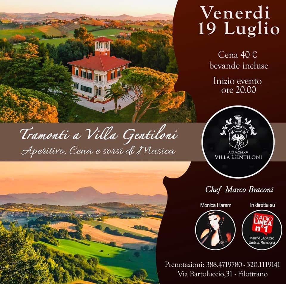 Evento festa 19 luglio 2019 Villa Gentiloni Filottrano