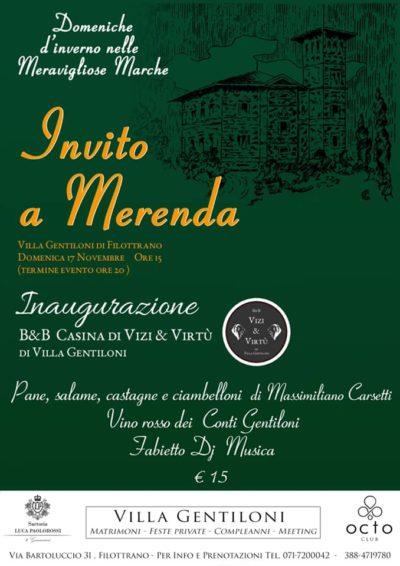 Merenda a Villa Gentiloni