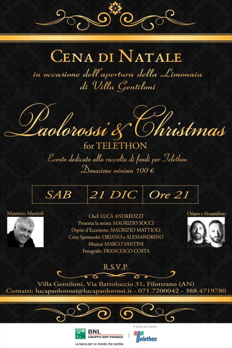 Cena di Natale Villa Gentiloni Paolorossi and Christmas Telethon festa beneficienza